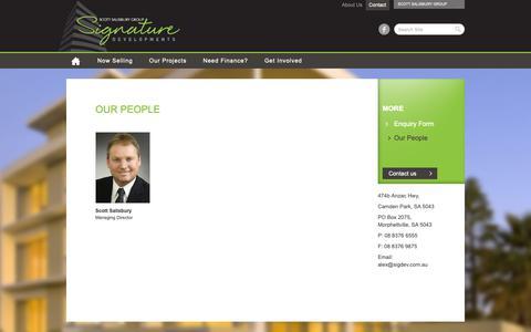 Screenshot of Team Page signaturedevelopments.com.au - Our People | Signature Developments - Scott Salisbury Group - captured Dec. 10, 2018