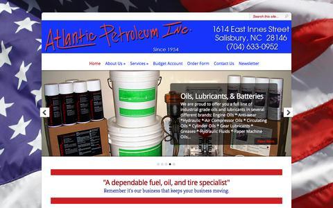 Screenshot of Home Page atlpetro.com - Fuel Services in Salisbury, NC - - Atlantic Petroleum Inc. | - captured Nov. 21, 2016
