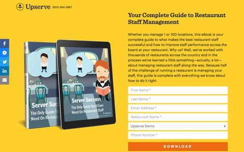 Screenshot of Landing Page upserve.com - The Only Guide To Staff Management You Need | Upserve - captured April 27, 2018