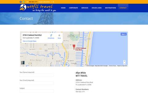 Screenshot of Contact Page wttfll.com - Wttfll.com   » Contact - captured Oct. 27, 2014