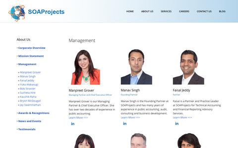 Screenshot of Team Page soaprojects.com - SOAProjects | SOAProjects Management - captured Oct. 3, 2014