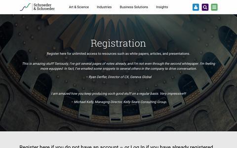 Screenshot of Signup Page schroeder-inc.com - Registration | - captured Sept. 28, 2016