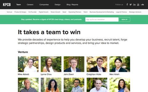 Screenshot of Team Page kpcb.com - Kleiner Perkins Caufield Byers - captured Oct. 3, 2015