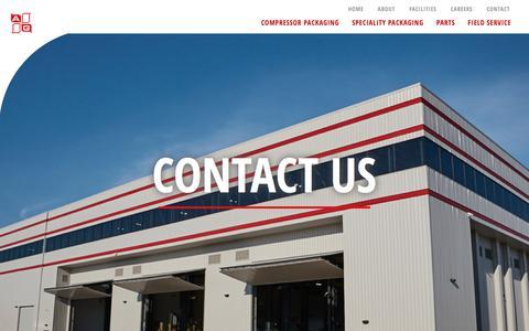 Screenshot of Contact Page agequipmentcompany.com - Contact | A G Equipment Company - captured July 16, 2018