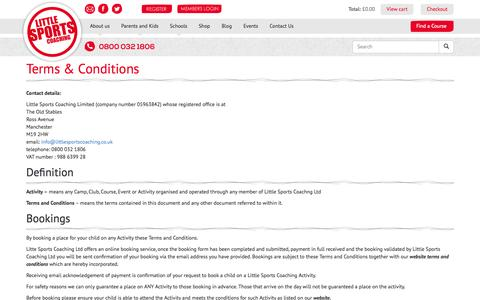 Screenshot of Terms Page littlesportscoaching.co.uk - Terms & Conditions | Little Sports Coaching - captured Nov. 2, 2014