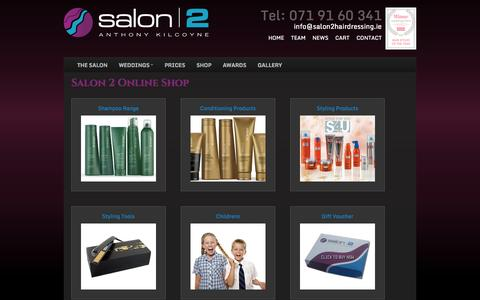 Screenshot of Products Page salon2hairdressing.ie - Salon 2 Hairdressing - captured Oct. 4, 2014