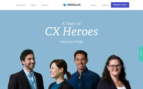 Professional Customer Experience Management Services | Medallia