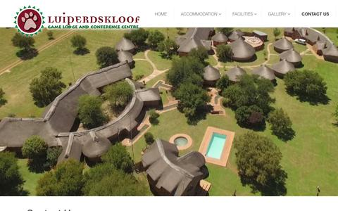 Screenshot of Contact Page luiperdskloof.com - Country conference venue as well as corporate function venue in Gauteng - captured Sept. 30, 2018