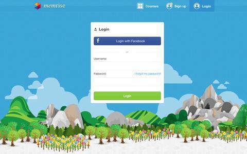 Screenshot of Login Page memrise.com - Login - Memrise - captured Oct. 10, 2014