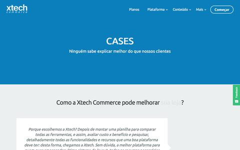 Screenshot of About Page xtechcommerce.com - Xtech Commerce | Nossos clientes - captured Nov. 28, 2017