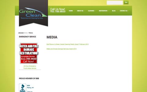 Screenshot of Press Page greencleancare.com - Media | Green Clean Care - captured Nov. 15, 2016