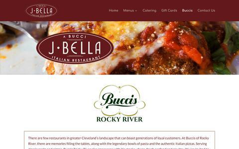 Screenshot of Locations Page buccis.net - Bucci's Restaurants - J Bella Italian Restaurant - captured Oct. 11, 2017