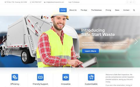Screenshot of Home Page safestartinspections.com - Completing Your Vehicle Inspection Checklist Using Safe Start App - captured Dec. 20, 2015