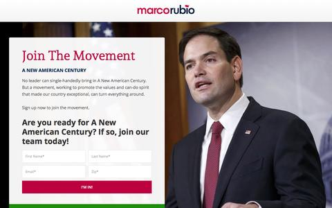 Screenshot of Signup Page marcorubio.com - Join Marco Rubio - captured Jan. 16, 2016
