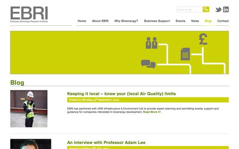 Screenshot of Blog bioenergy-midlands.org - Blog Archives - EBRI - captured Oct. 3, 2014