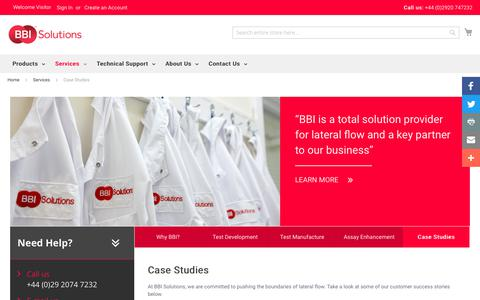 Screenshot of Case Studies Page bbisolutions.com - Case Studies - Services - captured Oct. 6, 2017
