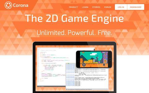 Screenshot of Home Page coronalabs.com - Corona Labs | Cross-Platform Game/App Development Toolset - captured June 26, 2017