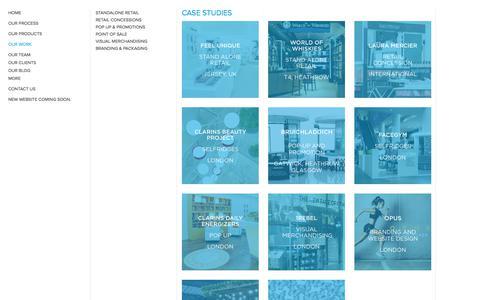 Screenshot of Case Studies Page sheridanandco.com - Case studies - captured Aug. 29, 2017