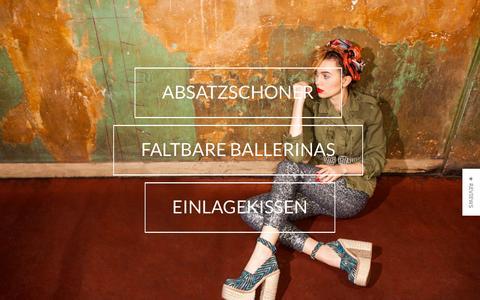 Screenshot of Home Page heelsrus.de - Ballenpolster, ¾-Sohle, Fersenhalter und Fersenkissen - captured March 3, 2016