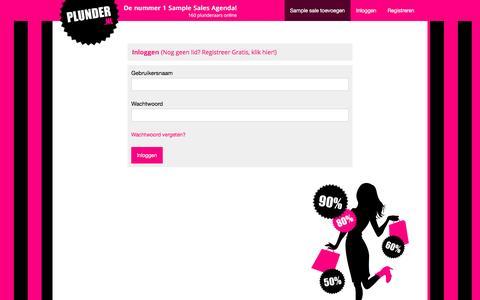 Screenshot of Login Page plunder.nl - Plunder.nl - Users Login - Sample Sales Agenda - captured Jan. 11, 2017