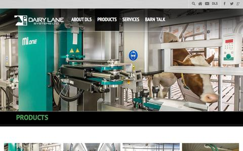 Screenshot of Products Page dairylane.ca - Products Archive - Dairy Lane Systems Ltd. - captured Feb. 8, 2016