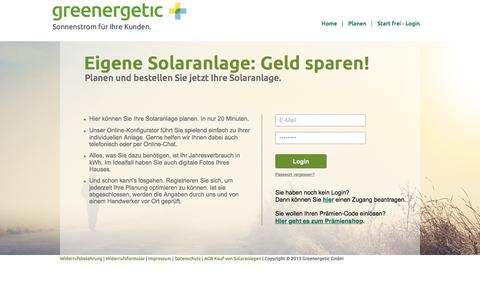 Screenshot of Login Page greenergetic.de - Greenergetic GmbH | - captured May 25, 2017