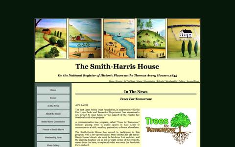Screenshot of Press Page smithharris.org - Welcome to the Smith-Harris House - East Lyme, Connecticut - captured Feb. 25, 2017