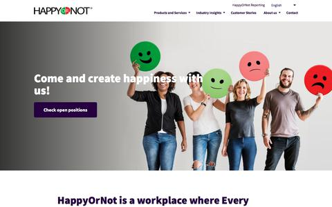 Screenshot of Jobs Page happy-or-not.com - (2) New Messages! - captured July 16, 2019