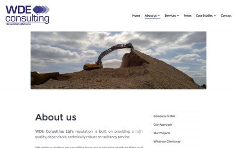 Screenshot of About Page wdeconsulting.co.uk - About us – WDE Consulting - captured Dec. 20, 2016