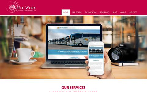 Screenshot of Home Page unitedworx.com - Quality web design in, Paphos, Cyprus with SEO and social media plans - captured Jan. 5, 2018