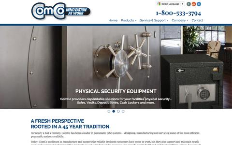 Screenshot of Home Page comcosystems.com - ComCo Systems  - Home - captured May 20, 2017