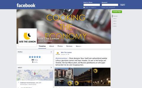 Screenshot of Facebook Page facebook.com - Bite The Lemon - Amsterdam, Netherlands - Local Business | Facebook - captured Oct. 23, 2014