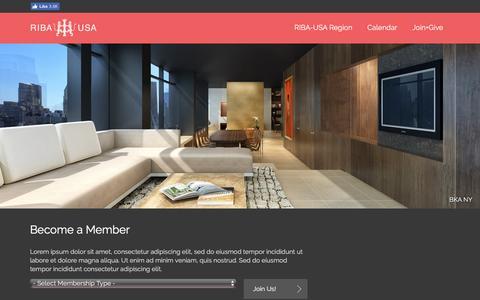 Screenshot of Signup Page riba-usa.org - Join RIBA-USA - captured Aug. 14, 2016