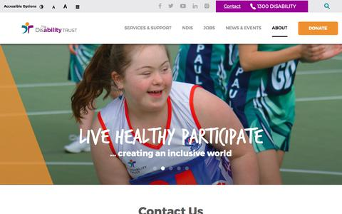 Screenshot of Contact Page disabilitytrust.org.au - Contact « The Disability Trust - captured Oct. 28, 2017