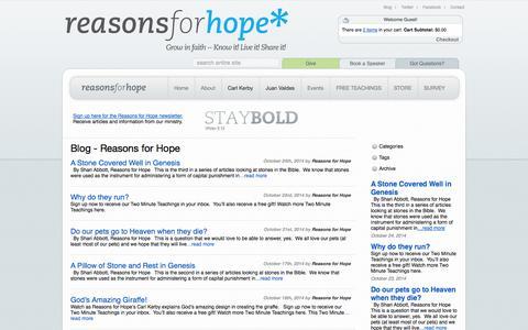 Screenshot of Blog rforh.com - Blog - Reasons for Hope - captured Oct. 26, 2014