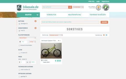 Screenshot of Trial Page bikesale.de - Fahrrad suchen - bikesale.de - Dein Fahrradmarktplatz - captured Sept. 23, 2014