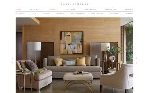 Screenshot of Products Page barbarabarry.com - Furniture | Barbara Barry - captured March 30, 2016