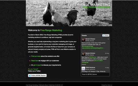 Screenshot of Home Page freerangemarketing.com - Homepage - Free Range Marketing, Cheltenham - captured Sept. 30, 2014