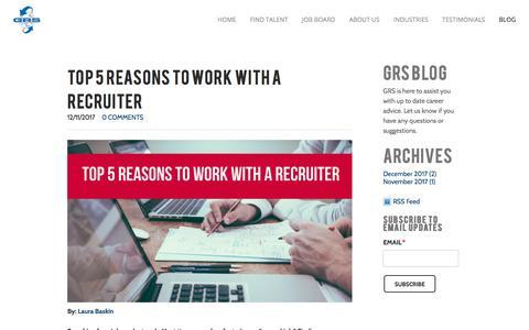 Screenshot of Blog grsrecruiting.com - GRS Recruiting Blogs   Recruiting - captured Dec. 15, 2017