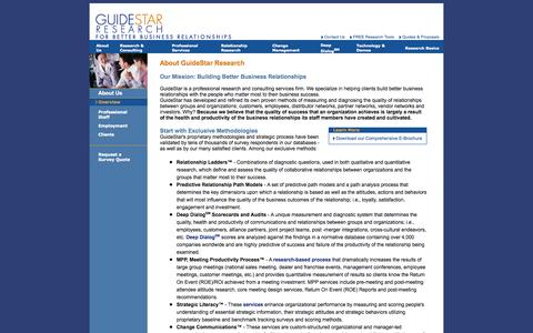 Screenshot of About Page guidestarco.com - GuideStar - About Us: Overview - captured Oct. 3, 2014