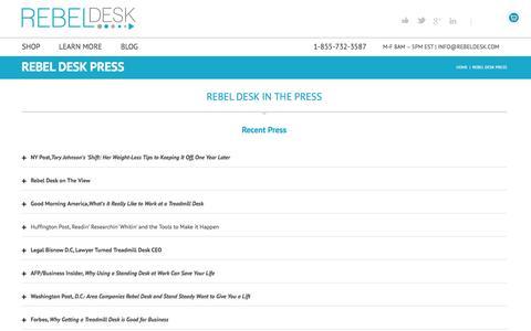 Screenshot of Press Page rebeldesk.com - Rebel Desk Press | Rebel Desk - captured Nov. 5, 2014