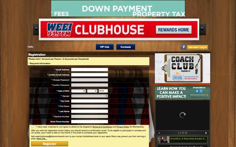Screenshot of Signup Page weei.com - Clubhouse Insider - captured Oct. 30, 2014