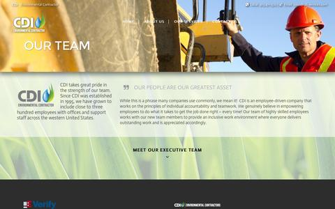 Screenshot of Team Page cdi-services.com - Our Team - CDI-Services - captured Jan. 22, 2016