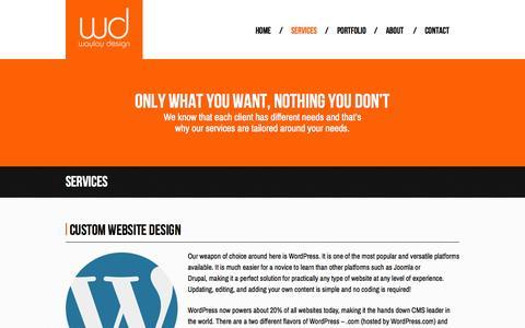 Screenshot of Services Page waylaydesign.com - Professional and Affordable Las Vegas Web Design Services | WayLay Design - captured Oct. 26, 2014