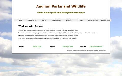 Screenshot of Team Page anglianparksandwildlife.co.uk - Anglian Parks and Wildlife - People - captured Oct. 29, 2014