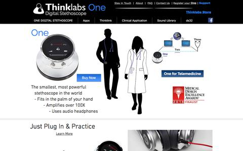 Screenshot of Home Page thinklabs.com - Thinklabs One Digital Stethoscope - captured Sept. 21, 2018