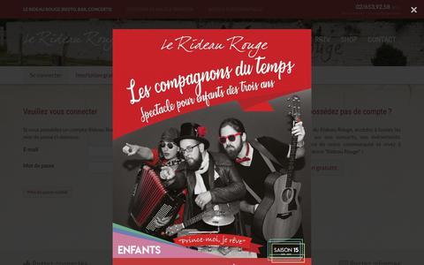 Screenshot of Login Page lerideaurouge.be - Connexion | Le Rideau Rouge - captured Nov. 27, 2018