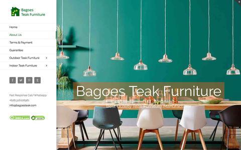 Screenshot of About Page bagoesteak.com - About Us | Indonesian Teak Outdoor Furniture and Teak Indoor Furniture Manufacturer Factory - captured Oct. 9, 2017