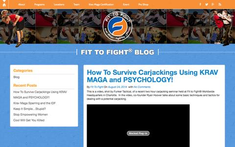 Screenshot of Blog fit-to-fight.com - Blog | Fit-to-Fight - captured Oct. 30, 2014
