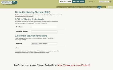 Consistency Checker